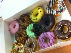 Colourful donuts