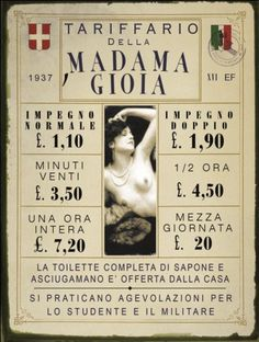 TARGA IN LATTA INSEGNA LOCALI TARIFFARIO MADAMA GIOIA Vintage Soul, Vintage Italian, Vintage Ads, Vintage Posters, Old Advertisements, Print Advertising, Historical Pictures, Tumblr, Vintage Pictures