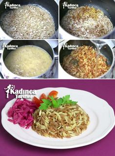 Turkish Kitchen, Mac And Cheese, Grains, Rice, Eggs, Yummy Food, Snacks, Cooking, Breakfast