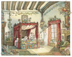 Lady Woodmouse's bedroom Jill Barklem