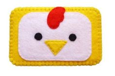 Items similar to Cute felt chicken cell phone case on Etsy