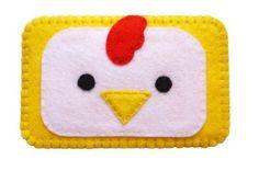 Cute felt chicken cell phone case