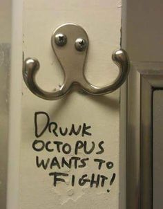 Drunk Octopus Wants to Fight! Put 'em up. #Boxing