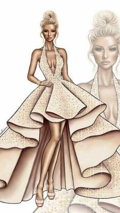 Dress Design Drawing, Dress Design Sketches, Dress Drawing, Fashion Design Drawings, Vintage Fashion Sketches, Drawing Clothes, Dress Designs, Fashion Drawing Dresses, Fashion Illustration Dresses
