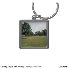 Cloudy Day In The Park Keychain