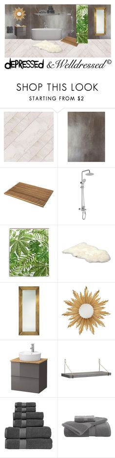 """""""Glamour Bathroom"""" by beingsilly ❤ liked on Polyvore featuring interior, interiors, interior design, home, home decor, interior decorating, Misha, Skagerak, UGG Australia and Jonathan Charles Fine Furniture"""