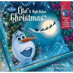 """Frozen Olaf's Night Before Christmas Book & CD -  Disney Press - Toys""""R""""Us"""