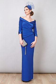 Rosa Blasco Vestido cadi azul klein