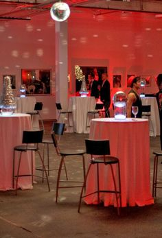 Such a pretty and memorable holiday party design....from the creatively brilliant minds at Dallas Light and Sound.