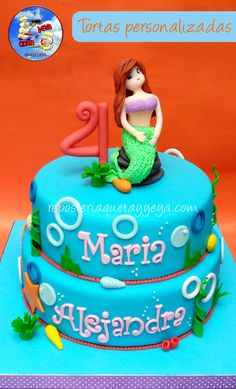 Torta sirenita mermaid cake https://www.facebook.com/QuetayYeya