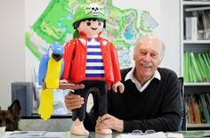 "Horst Brandstatter, 76, Playmobil's owner and the great-grandson of the company's founder, seen in the Playmobil Headquarters. ""Our target is keep Playmobil as something kids can use to get away for the computer just for a while. I hope we can keep doing that,"" he said"