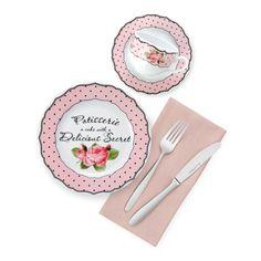 Bernardo Rosy Kahvaltı Takımı / Breakfast Set #bernardo #bonechina #breakfasttime #teatime #tabledesign #vintage #rose #pink