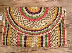 Basket Woven Bag at Mercantile - Jackalope Ranch