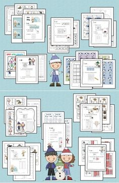 Winter Math Work Stations - included are 10 ready to use centers to put in your math tubs.