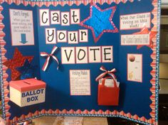 Such a clever idea...how does voting affect our community?  Each week is a new question to vote on.  Love it!!!  Our classroom voting booth!