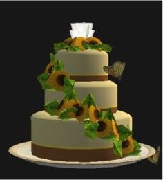 The Sims 2 Its Your Day Set One Of 6 Delicious Wedding Cakes - Sims 4 Wedding Cake Cheat