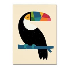 Trademark Fine Art 'Rainbow Toucan' Canvas Art by Andy Westface, White Art And Illustration, Canvas Artwork, Geometric Art, Bird Art, Online Art, Watercolor Art, Art For Kids, Art Drawings, Art Projects