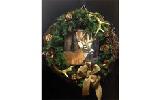 Wildlife Deer Wreath Ideas | ... crafted antler and evergreen wreath purchase this wreath wreath with