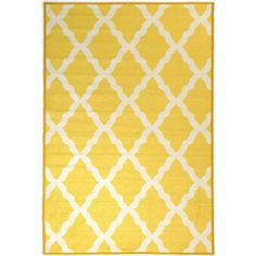 Ottomanson Pink Collection Contemporary Moroccan Trellis Design Yellow 3 ft. 3 in. x 5 ft. Area Rug-PNK7021-3X5 - The Home Depot
