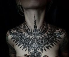 female chest tattoos - Google Search