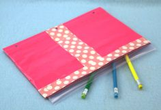 Make a duct tape pencil pouch out of a Ziploc bag and duct tape!  Perfect craft for back to school.  From Sophie's World.