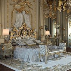 Luxury bedroom design mansions beds 30 New Ideas Castle Bedroom, Mansion Bedroom, Mansion Interior, Luxury Interior, Castle Rooms, Palace Interior, Royal Bedroom, Bedroom Sets, Dream Rooms