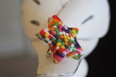 Candy sprinkle resin ring #resin