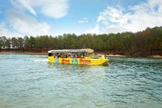 Broken Bow Lake Duck Tours is an engaging way to see Beavers Bend State Park and Broken Bow Lake from land and water on an awesome WW II Amphibious vessel. Beavers Bend State Park, State Parks, Duck Tour, Broken Bow Lake, Oklahoma Tourism, Boat Tours, Big Family, Travel And Tourism, Travel Information