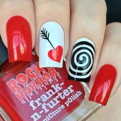 Valentines Nail Designs You'll Absolutely Love 19 pretty valentine's day nail art designs to inspire you. Valentines day nails for this year pretty valentine's day nail art designs to inspire you. Valentines day nails for this year Heart Nail Designs, Valentine's Day Nail Designs, Pretty Nail Designs, Nails Design, Salon Design, Love Nails, Red Nails, Pretty Nails, Valentine Nail Art