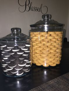 My cookie jars!!! Who says organization has to be boring! Ok ok.... Maybe this is extreme for some! Super cute and functional! Thanks KHLO-CD!!
