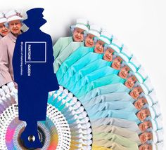 The Color of Monarchy: Pantone's Take on the Queen's Wardrobe.  Can I get my own color wheel in Henry the VIII, please?