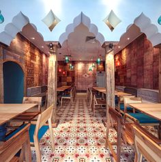 Exotic Oriental Restaurant Decor oriental bazaar dining decor