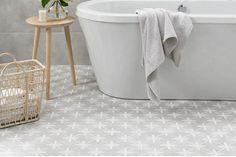 Laura Ashley Wicker Dove Grey Wall & Floor Tiles 33x33cm - Tons of Tiles