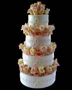 Celtic Rose Wedding Cake By krissy_kze on CakeCentral.com