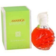 Amarige Mariage Perfume by Givenchy, A hint of violet, mimosa, soft sweet spices, and orange flowers, with fruity scents of fresh citrus, melons, peaches, and plums. It contains 100ml or 3.4 oz of perfume.  Other sizes are available.