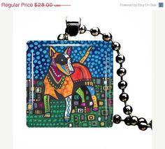 Jewelry Dog  Miniature Bull Terrier Pendant by HeatherGallerArt, $28.00