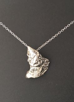 Ice casting a sterling silver pendant