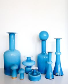 A selection of some of my many cased vintage mid-century Holmegaard glass pieces at deedee9:14
