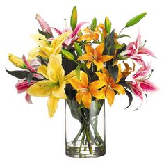 Invite the lush tropical style of Gauguins French Polynesia to your home with this beautiful design. Product: Faux floral arrangement...