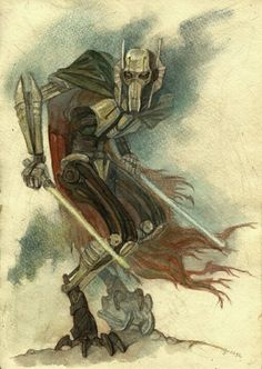 GORGEOUS General Grievous art. LOVE this style. Reminds me of early Disney watercolors.
