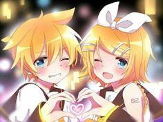 rin and len^^ Rin E Len, Kagamine Rin And Len, Kaito, Hatsune Miku, Anime Chibi, Anime Art, Vocaloid Funny, Anime Best Friends, Anime Songs