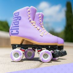 In stock and available NOW, our sweeter than sweet, 'Sweet Lavender' Lifestyle skates 💜 #itstime .  To see more ➡️ CHAYA-BRAND.COM .  #chaya #chayaskates #chayalifestyle #chayapark #itstime #rollerderby #powerslide #quadskating #quads #rollerskating #parkskating #rollerskates #chicksinbowls #lifestyle #fashion #skate #skatelife #RollerskateEverywhere #sweet #lavender