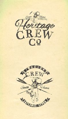 Heritage Crew - Summer Logos - Apparel Graphics by Richard Schonegevel