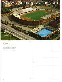 € 2,50 - code : ITA-008 - Bologna - Dall'Ara - stadium postcard cartolina stadio carte stade estadio tarjeta postal