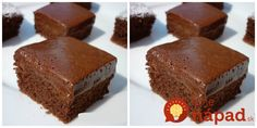 Fantastický receptík z kefíru a kyslej smotany. Veľmi šťavnatý a chutný. Kefir, Cheesecake, Yummy Food, Food And Drink, Drinks, Desserts, Cakes, Nova, Projects