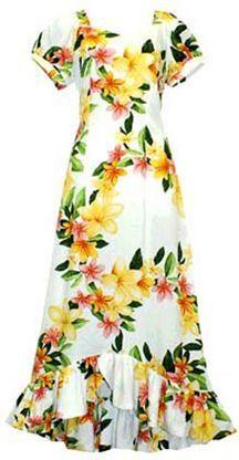 TP 917R [Nadina/White] Mid-length Dress - Middle Dresses - Hawaiian Dresses   AlohaOutlet SelectShop