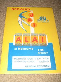 "Melbourne Jai Alai Program March 11 1974 Vol 3 ""Closing Night"" | eBay"