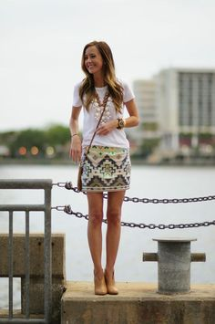 Gorgeous Aztec pattern skirt