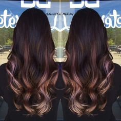 Lilac and Blonde Ombre