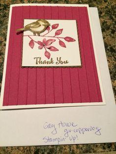 Petal Palette Bird Thank You